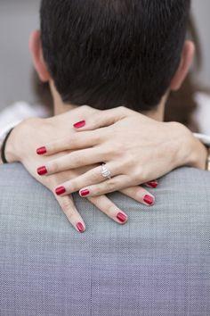 Red nails + diamonds | Photography: Les Productions De La Fabrik - lesproductionsdelafabrik.com