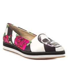 Love this TaylorSays Black Skull & Rose Tayquila Flat by TaylorSays on #zulily! #zulilyfinds