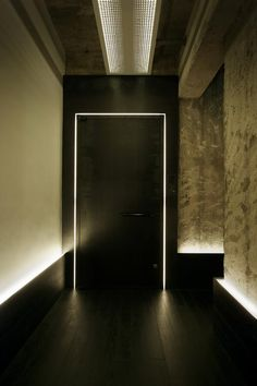 'Inverse shadow gap' inside the Way Out Offices by Design Systems. Beautiful wall texture.