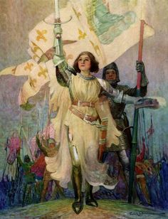 Schoonover, Frank (b,1877)- Warrior Maid, Joan of Arc, 1918
