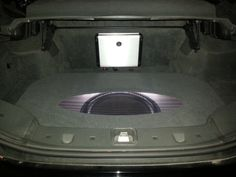 """Simple setup in an SL500. 16"""" Focal subwoofer powered by a JL Audio HD amplifier!"""