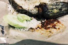 """Indonesian food """"Pecel Lele"""". Crispy fried catfish with Sambal,white rice and fresh cucumber ☺️  #Indonesia #food #catfish #sambal"""