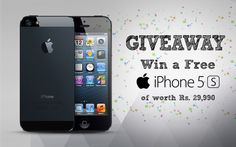 Win* a FREE Apple iPhone 5S worth Rs. 29,990/-