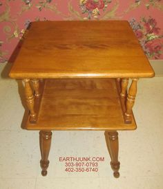 Merveilleux Baumritter Ethan Allen Square End Lamp Table Spindle Heirloom Maple 10 2521  #EthanAllen #Traditional