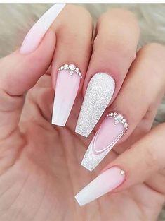 Long Nail Designs, Ombre Nail Designs, Acrylic Nail Designs, Nail Art Designs, Cute Nails, Pretty Nails, My Nails, Best Acrylic Nails, Nail Decorations