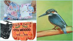Youtube, Bird, Laser, Animals, Watercolor Painting, Mexican Style, Mini Albums, Viva Mexico, Stamps