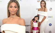 Ciara smoulders on Miss America 2017 red carpet