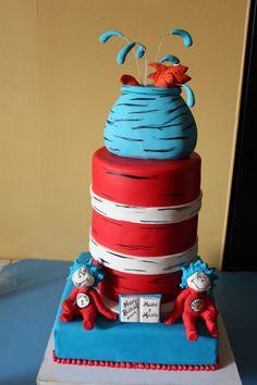 Sprinkle Splash: Dr. Seuss Cat in the Hat Cake.    We service the Greater New York Area call us today 800-764-6106 or info@SprinkleSplash.com