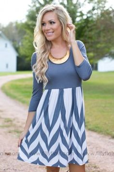Bring Me Hope Dress in Grey
