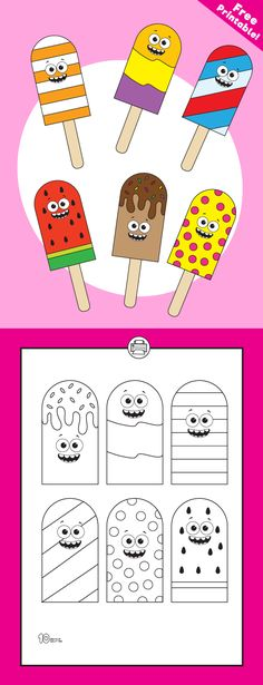 free printable paper popsicles