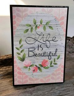Wood Block Sign/ Inspirational Gifts/ by SilverHopeDesigns on Etsy