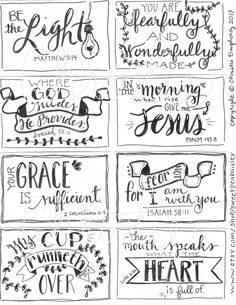 Holy Bible, Journal Edition – Bible Journaling Made Simple Scripture Cards, Printable Scripture, Encouragement Scripture, Scripture Doodle, Bible Verse Signs, Prayer Cards, Bible Art, Bible Quotes, Bible Crafts
