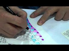 Adding color to your Zentangle art  By Linda Farmer, CZT (Lots of links on this site also for patterns and how to draw,,,)