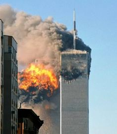 At 8:46 a.m. on September 11th, 2001, terrorists flew the first plane into the World Trade Center buildings. In the photo above, the South Tower appears seconds after United Airlines Flight 175 hit it.