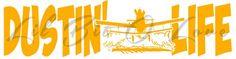Dustin Life Vinyl Decal Crop Duster AgCat Ag Cat Plane Farming Farm  | LilBitOLove - Housewares on ArtFire