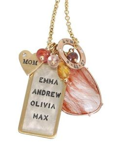 Heather Moore Jewelry - Heart and ID Tag with Open Circle & Stone - at David Craig Jewelers