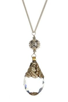 Long Tibetan Crystal Drop Necklace...I am in love with antique jewelry