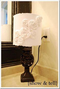 redo a lampshade http://www.theshowandtellblog.com/2010/04/lamp-re-vamp-hey-that-rhymes.html