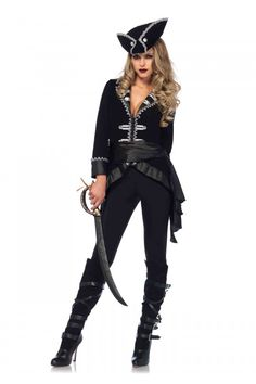 Halloween costumes ideas - Pirate Halloween Costume for party and parties, Girls & female / couples / kids / family etc. that scary, funny, spooky, cute creepy at the same time. Our collection comes with plus size, pregnant which are cheap, on a budget ideas. #halloween #costume