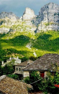Papigo, a Greek traditional village in Epirus, attracts hikers and mountaineers from all over the world Greece Beautiful Islands, Beautiful Places, Places To Travel, Places To See, Mykonos, Santorini, Places In Greece, Greek Isles, Greece Travel