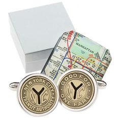 These cuff-links are HIGH on Troy's Wish List!!!! Allen Edmonds is now featuring Tokens & Icons Recycled Nostalgia