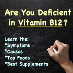 Over 40% of people may struggle with a vitamin B12 deficiency. In this article we will cover the symptoms, causes along with the top foods and supplements