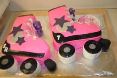 Roller Skate cakes, do 1 cake each with names & age, one pink, one Purple, pipe cakes really small. Pink Roller Skates, Roller Skate Cake, Roller Derby, Cupcakes, Cupcake Cakes, Roller Skating Party, Birthday Parties, 8th Birthday, Birthday Ideas