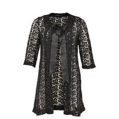 Yoek Black Label Lace Coat Black