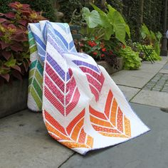Jelly Roll Zig Zag Quilt free Pattern