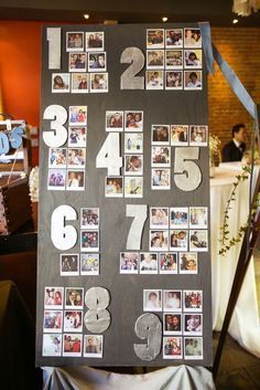 Use snapshots of your guest as table assignments / http://www.deerpearlflowers.com/creative-polaroid-wedding-ideas/