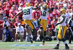 Green Bay Packers Randall Cobb, Jermichael Finley