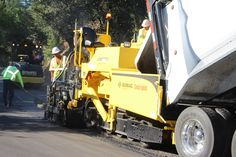 Rural paving operation in Northern California.