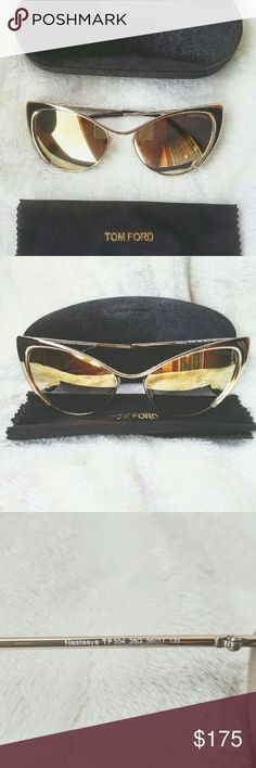 Tom Ford sunglasses TF304 28G Brand new authentic Tom Ford Sunglasses cateye vintage mirror lens Tom Ford Accessories Sunglasses