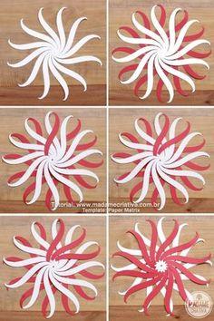 DIY paper Balls tutorial! So beautiful! I'm totally making this for Christmas! Passo a Passo Bolas de Paper trançado! Lindo para decoração de natal! #chirstmascrafts