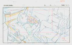 Film: Spirited Away (千と千尋の神隠し) ===== Layout Design - Scene: The Long Car Ride…