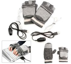 Heated Gloves for Bloggers - I needed these last winter! Hard to type with cold hands. I wonder if you could play the piano while wearing these?  ~ An inexpensive, low tech method I just thought of yesterday would be to buy any inexpensive gloves on sale and cut the fingers off where you want them.