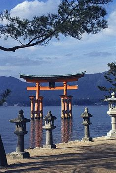 Miyajima-Shrine, Hiroshima, Japan.