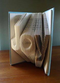 Christmas Decor - Holiday - Joy - Folded Book Art - Inspirational - Book Sculpture - Unique Gift -. $55.00, via Etsy    I can't imagine how long this took to make.