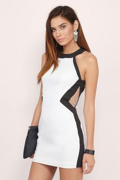 Cut Off Point Bodycon Dress at Tobi.com #shoptobi