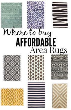 Where to buy affordable area rugs - all under $200