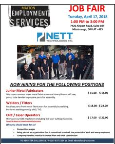 Centre for Education & Training Sheet Metal Fabrication, Youth Programs, Job Fair, Education And Training, Job Search, Cnc, Rsvp, Centre, It Works