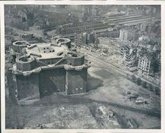 """German - Tiergarten Flak Bunkers – Consisted of Two Towers - The """"G"""" Tower was Seven Stories High (1 Basement and 6 Upper Levels) the """"L"""" Tower a Smaller Building with the Sensory Equipment, Including Radar – Armament: 4 x 128mm FlaK 40 AA Guns Electronically Loaded and Fired at a Rate 24 Rounds per Minute and Various 20mm and 37mm AA Guns - There were 8 Complexes of Above Ground - Berlin had (3) Vienna had (3) and Hamburg had (2) - They also Served as Air-Raid Shelters (2)"""