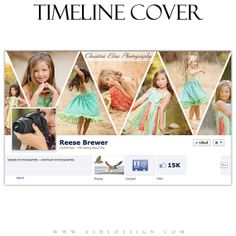 FACEBOOK TIMELINE COVER -- Pennant -- Digital PhotoshopTemplates for Personal and Business Pages