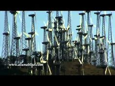 Close-up of wind power windmills.     Purchase this clip from A Luna Blue:   http://www.alunablue.com/industry-stock-footage/ecology/wind-power-02/clip-06.html     A Luna Blue Stock Video.   Imagery for Your Imagination.   http://www.alunablue.com