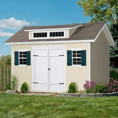 Stonecroft x Wood Storage Shed - seriously considering replacing my trailer camper home with this. Wood Storage Sheds, Wood Shed, Storage Shed Plans, Storage Ideas, Backyard Sheds, Outdoor Sheds, Garden Sheds, Pool House Shed, Modern Shed