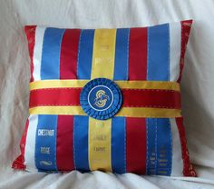 Equestrian Pillow made with Your Own Ribbons! (I could make these if I tried I bet)
