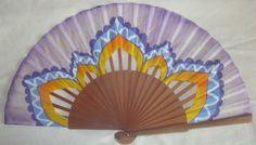 "ABANICO ""ARABESCO"" PINTADO Y DISEÑADO A MANO, DE ABANICOS DISIMUSA Fan Decoration, Hand Fans, Fancy, Painting, Mini, Arabesque, Painted Fan, How To Paint, Objects"