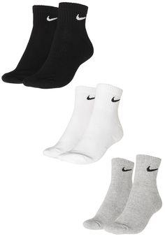 1a465a187 Kit 3pçs Meia Nike Cano Baixo Everyday Cush Ankle 3pr Branco/Preto/Cinza