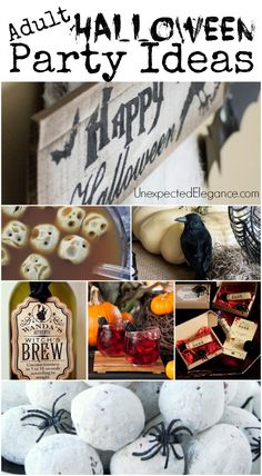 Adult Halloween Party Ideas- Tips and inspiration for food and decor!