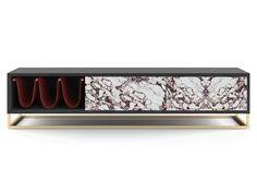 Tv Bench, Champagne Color, Tv Cabinets, New Furniture, Wood Design, Aston Martin, Wooden Frames, Bedroom, Interior